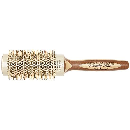 Perie Bambus Rotunda - Olivia Garden Healthy Hair Thermal Brush HH-43 imagine produs