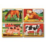 Wooden puzzles. Set 4 puzzle lemn, Animale domestice
