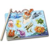 Magnetic game. Joc de pescuit magnetic, Animale marine