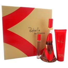 Set Rihanna Rebelle pentru Femei - Apa de Parfum 100ml, Apa de Parfum Roll-On 6ml, Unt de Corp 85g