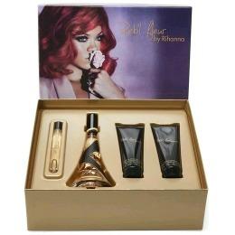 Set Rihanna Reb'l Fleur pentru Femei - Apa de Parfum 100ml, Apa de Parfum 10ml, Lotiune de Corp 90ml, Gel de Dus 90ml
