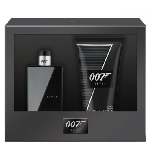 Set James Bond 007 Seven pentru Barbati - Apa de Toaleta 30ml, Gel de Dus 50ml poza