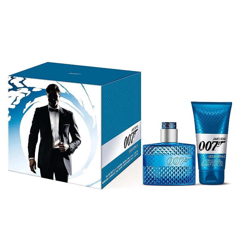 Set James Bond 007 Ocean Royale pentru Barbati - Apa de Toaleta 30ml, Gel de Dus 50ml poza