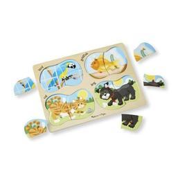 Imagine 4 In 1 Peg Puzzle, Pets, Puzzle Lemn 1, Animale