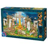 Puzzle 1000. Cartoon collection: Stonehenge