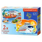 Puzzle 2 in 1 Contour - Sea Adventures