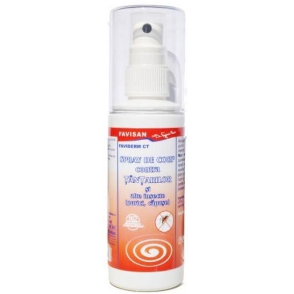 Spray de Corp contra Tantarilor Faviderm Favisan, 100ml poza