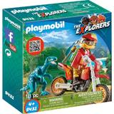 Playmobil Sports Action - Cercetator - Motociclist Si Raptor
