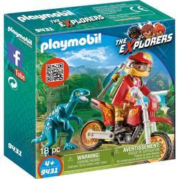 Playmobil Sports Action - Cercetator - Motociclist Si Raptor