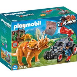 Playmobil Sports Action - Cercetator - Automobil Si Triceratops