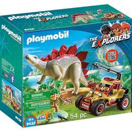 Playmobil Sports Action - Cercetator - Masina De Teren Si Stegosaurus