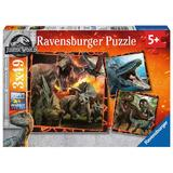 Puzzle Jurassic World, 3X49 Piese - Ravensburger