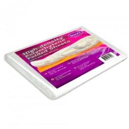 Cearceaf Polietilena pentru Impachetari Corporale - Beautyfor High-density Polyethylene Folded Sheets, 160 x 200cm, 50 buc