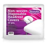 Huse Protectie Tetiera din Material Netesut de Unica Folosinta - Beautyfor Non-woven Disposable Headrest Covers, 50 buc