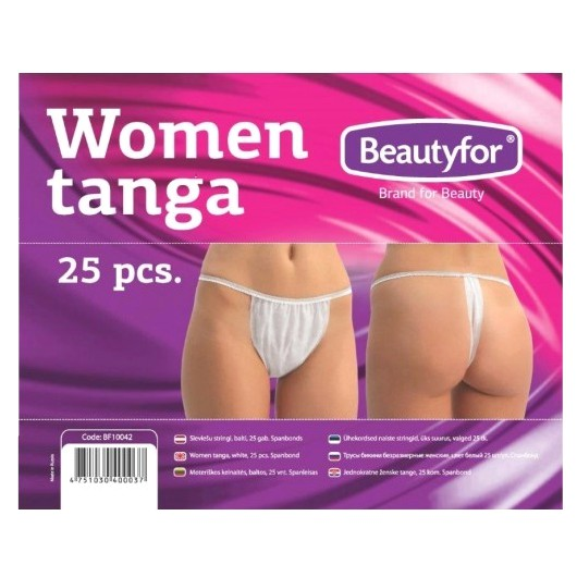 Chiloti de unica folosinta pentru femei - Beautyfor Disposable Women Tanga, 25 buc imagine produs