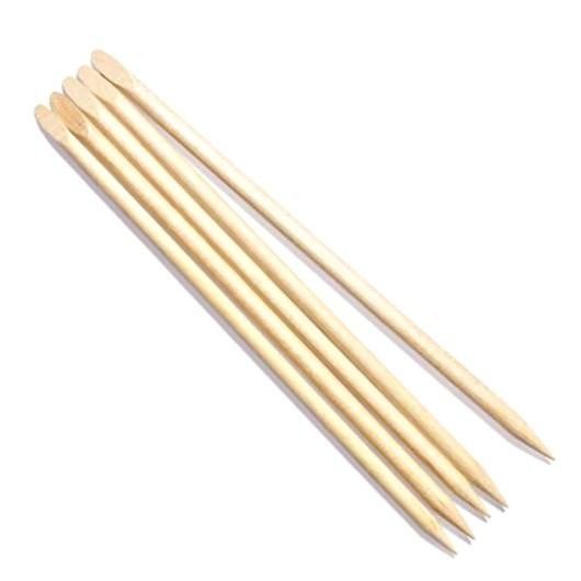 Betisoare Lemn pentru Cuticule cu Capat Oblic - Beautyfor Wooden Cuticle Pusher Slant, 140mm, 5 buc imagine produs