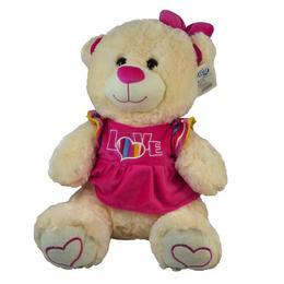 Plus Ursulet 40 cm cu rochita roz - Kiwi