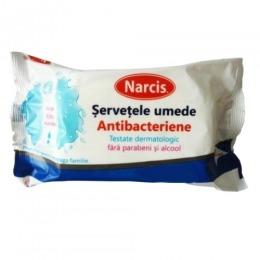 Servetele Umede Antibacteriene Narcis, 72 buc