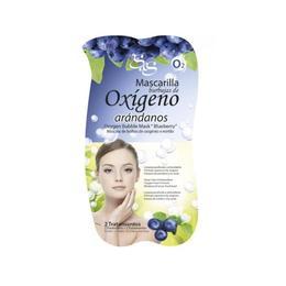Mască faţă cu bule de oxigen & afine - Laboratorio SyS - 2*3,5 ml