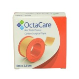 Banda Adeziva Suport Textil - Octamed OctaCare Cotton Surgical Tape, 2.5cm x 5m