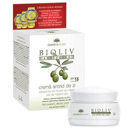 Crema Antirid de Zi SPF 15 Bioliv Antiaging Cosmetic Plant, 50ml