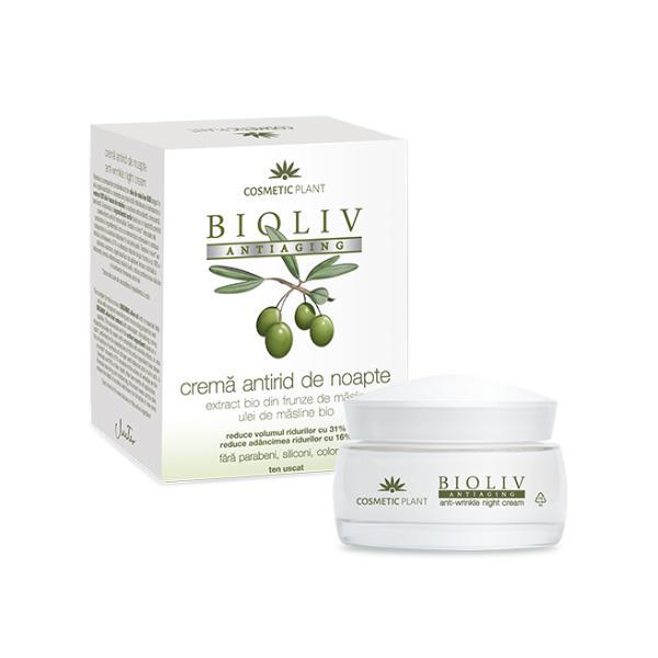 Crema Antirid de Noapte Bioliv Antiaging Cosmetic Plant, 50ml imagine produs