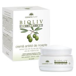 Crema Antirid de Noapte Bioliv Antiaging Cosmetic Plant, 50ml