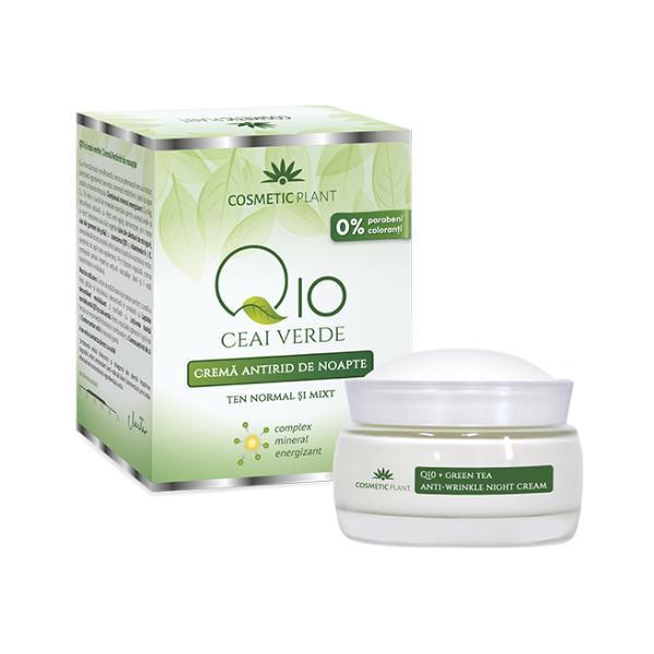 Crema Antirid de Noapte Q10 + Ceai Verde Cosmetic Plant, 50ml imagine produs