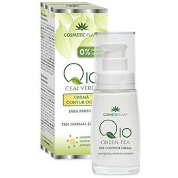 Crema Contur Ochi Q10 + Ceai Verde Cosmetic Plant, 30ml