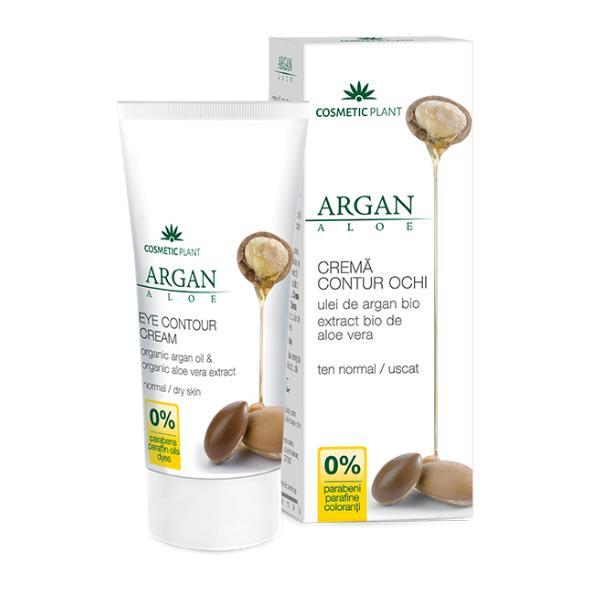 Crema Contur Ochi Argan Aloe Cosmetic Plant, 30ml imagine produs