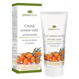 Crema Contur Ochi Anticearcan cu Ulei de Catina si Masline Cosmetic Plant, 30ml