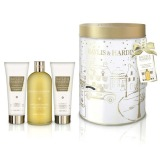 Set Cadou Baylis & Harding Sweet Mandarin & Grapefruit Round Tin Set - Crema de Dus 300ml, Gel de Dus 130ml, Lotiune de Maini si Corp 130ml