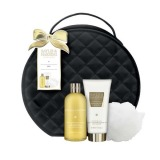 Set Cadou Baylis & Harding Sweet Mandarin & Grapefruit Vanity Bag Set - Gel de Dus 300ml, Lotiune de Corp 200ml, Burete de Baie