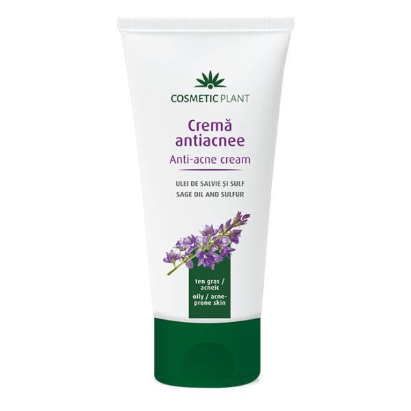 Crema cu Ulei de Salvie si Sulf pentru Tenul Acneic Cosmetic Plant, 100m imagine produs