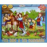 Puzzle - Fata babei si fata mosului (30 de piese) 3 ani+