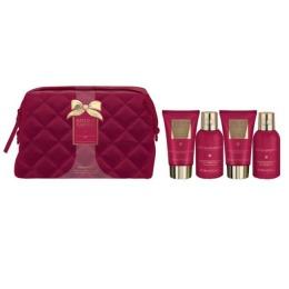 Set Cadou Baylis & Harding Midnight Fig & Pomegranate Wash Bag Set - Gel de Dus 100ml, Crema de Dus 100ml, Crema de Maini 50ml, Lotiune de Corp 50ml