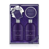 Set Cadou Baylis & Harding Wild Blackberry and Apple Benefit Set - Gel de Dus 500ml, Lotiune de Corp 500ml, Cristale de Baie 250g, Burete de Baie