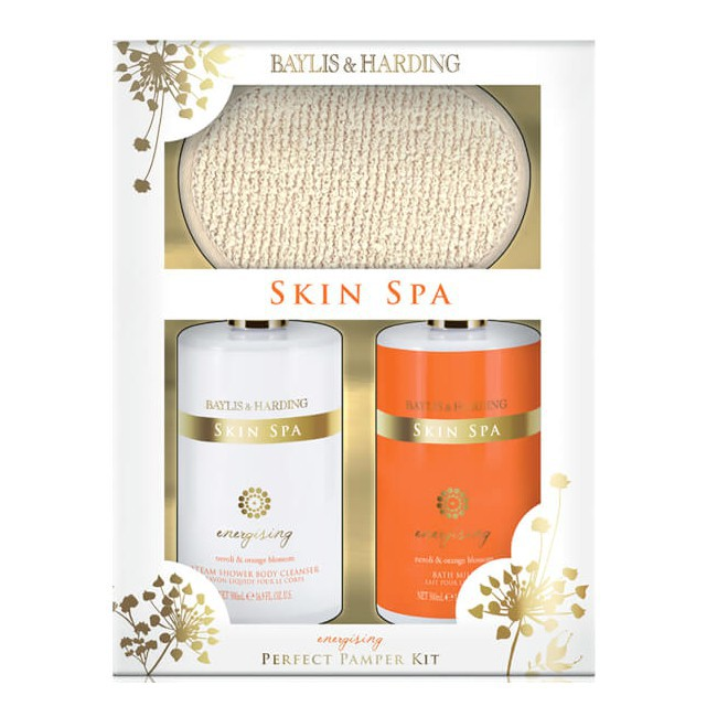 Set Cadou Baylis & Harding Skin Spa Energising Benefit Set - Gel de Dus 500ml, Lapte de Baie 500ml, Manusa Exfolianta imagine produs