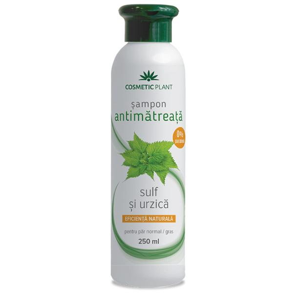 Sampon Antimatreata cu Sulf si Urzica Cosmetic Plant, 250ml