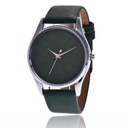 Ceas de dama elegant Geneva, curea piele, model verde