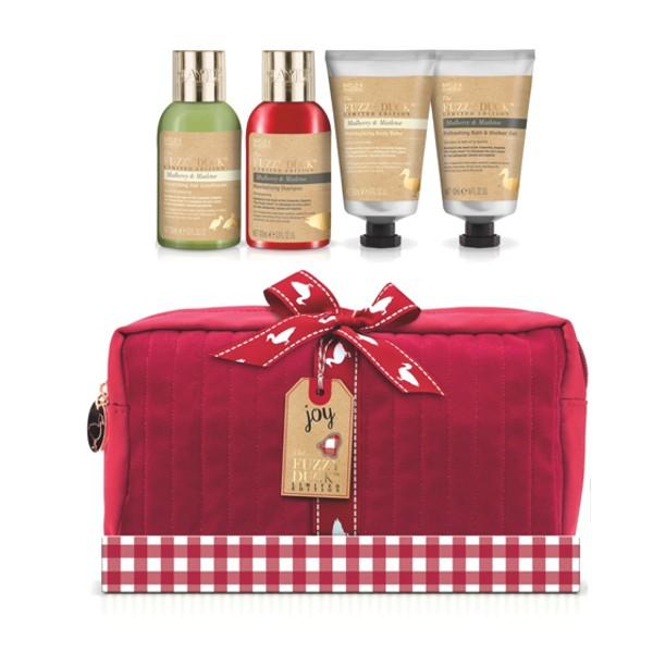 Set Cadou Baylis & Harding Fuzzy Duck Christmas Wash Bag Set - Gel de Baie si Dus 50ml, Balsam de Corp 50ml, Sampon 100ml, Balsam 100ml imagine produs