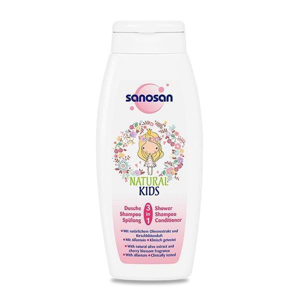 Sampon Balsam și Gel De Duș Pentru Copii Sanosan Kids 3 In 1 250