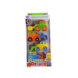 Set 4 masinute de constructie, varsta 3 ani+, multicolor - Disney Toy