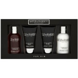 Set Cadou Baylis & Harding Men's Black Pepper & Ginseng 4 Piece Box - Lotiune de Curatare pentru Par si Corp 100ml, Gel de Dus 50ml, Lotiune de Curatare pentru Ten 50ml, Balsam Aftershave 100ml