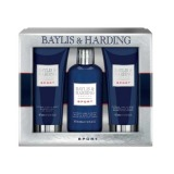 Set Cadou Baylis & Harding Men's Citrus Lime & Mint 3 Piece Set - Lotiune de Curatare pentru Par si Corp 300ml, Gel de Dus 200ml, Balsam Aftershave 200ml