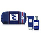 Set Cadou Baylis & Harding Men's Citrus Lime & Mint Small Wash Bag - Lotiune de Curatare pentru Par si Corp 100ml, Balsam Aftershave 50ml