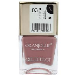 Lac de unghii Oranjollie Gel Effect 03, 15 ml
