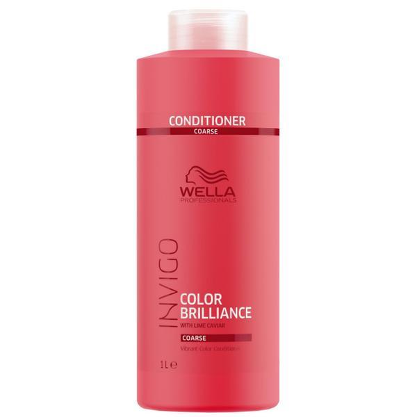 Balsam pentru Par Vopsit, Aspru - Wella Professionals Invigo Color Brilliance Vibrant Color Conditioner Coarse Hair, 1000ml