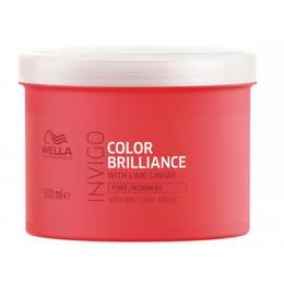 Masca pentru Par Vopsit, Fin sau Normal - Wella Professionals Invigo Color Brilliance Vibrant Color Mask Fine/Normal Hair, 500ml