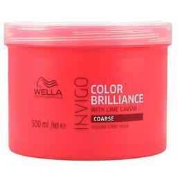 Masca pentru Par Vopsit, Aspru – Wella Professionals Invigo Color Brilliance Vibrant Color Mask Coarse Hair, 500ml de la esteto.ro